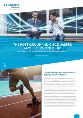 Learn how the POST Cisco Jasper Control Center enables easy and automated connectivity management for IoT Businesses.